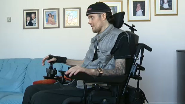 Edmontonian Aaron Moser became a quadriplegic after being hit during a hockey game in 1998. Moser's entire life changed after the injury he believes checking is an important part of the sport.