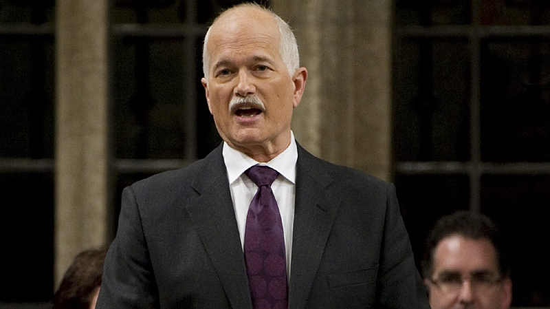 NDP Leader Jack Layton rises during Question Period in the House of Commons on Parliament Hill in Ottawa, Monday January 31, 2011. (Adrian Wyld / THE CANADIAN PRESS)