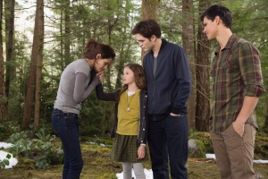 "From left, Kristen Stewart, Mackenzie Foy, Robert Pattinson and Taylor Lautner are shown in a scene of ""The Twilight Saga: Breaking Dawn, Part 2"". (THE CANADIAN PRESS/HO, eOne Films - Andrew Cooper)"