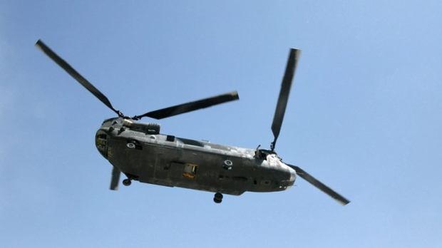 A Canadian Chinook helicopter is pictured on Sept. 10, 2009 in Afghanistan. National Defence has put 'For Sale' signs on the air force's Chinook helicopters in Afghanistan - two years after taxpayers shelled out $282 million to buy them. (Bill Graveland / THE CANADIAN PRESS)