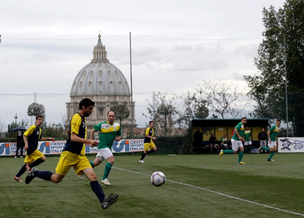 Teams play Clericus Cup soccer match in Rome