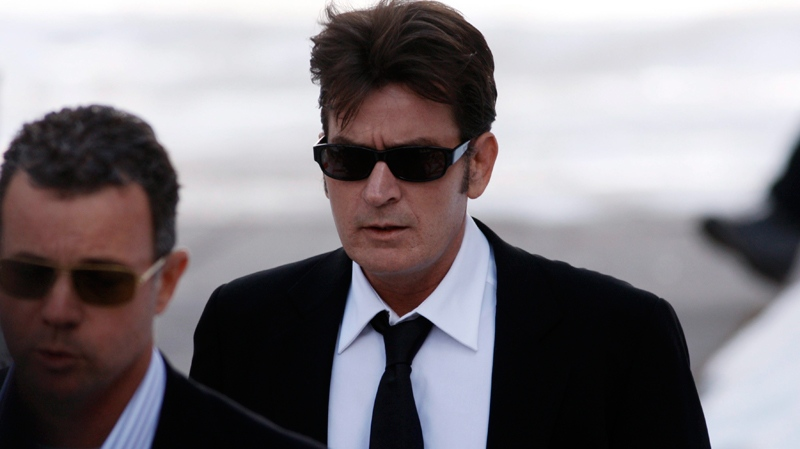 Charlie Sheen arrives at the Pitkin County Courthouse in Aspen, Colo., on Monday, Feb. 8, 2010. (AP / David Zalubowski)