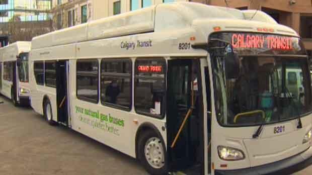 natural gas bus, Calgary Transit, natural gas tran