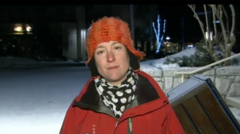 Sled dog tour operator Jaime Hargraves says her retired dogs are adopted out to families as pets.  Feb. 1, 2011. (CTV)
