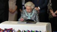 Queen signs historic Commonwealth document