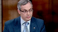 Industry Minister Tony Clement appears on CTV's Power Play in Ottawa, Tuesday, Feb. 1, 2011.