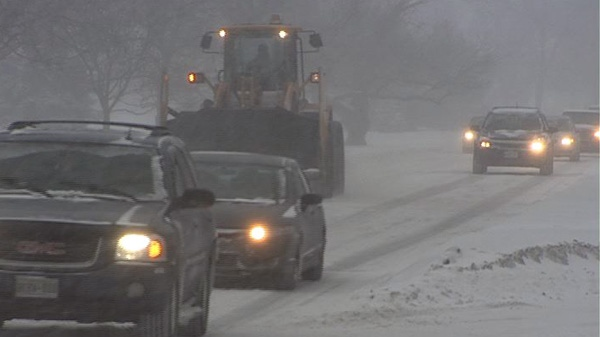Despite a winter storm, roads weren't too backed up in Ottawa, Wednesday, Feb. 2, 2011.