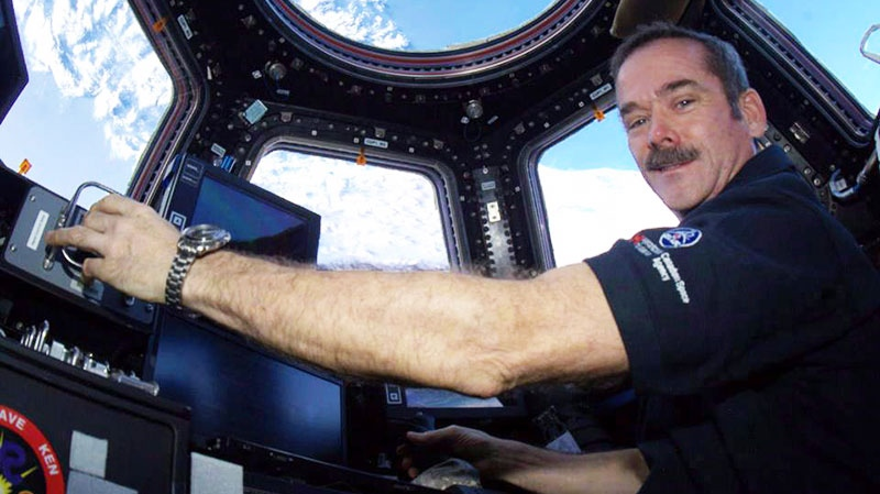 Canadian astronaut Chris Hadfield poses for a photo in this undated handout photo. (Chris Hadfield)