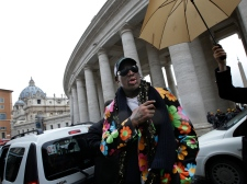 Dennis Rodman in Rome on March 13, 2013.