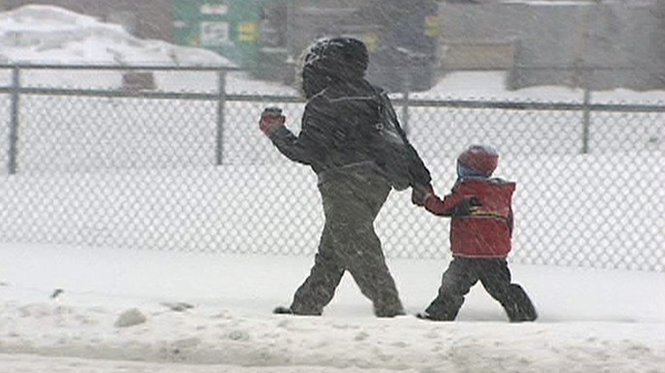 Although school buses were cancelled in Ottawa, most schools remained open, Wednesday, Feb. 2, 2011.