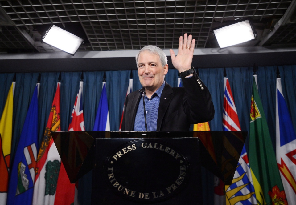 Liberal MP Marc Garneau pauses during a press conference on Parliament Hill in Ottawa on Wednesday, March 13, 2013. (Sean Kilpatrick / THE CANADIAN PRESS)