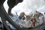 Football players in Wyoming hold a car wash in this June 2012 file photo. (The Citizens' Voice / Mark Moran)