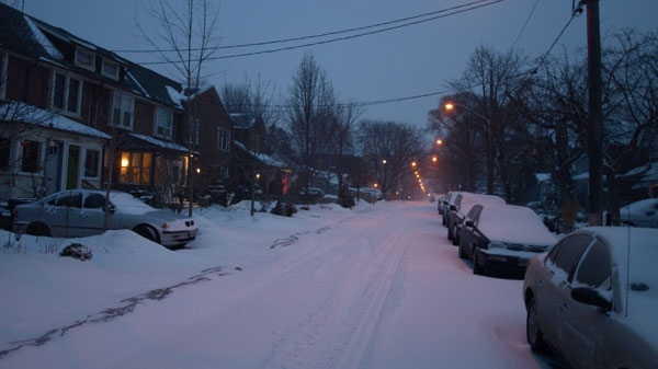 Residents in Toronto got their first real taste of winter as a major storm dumped between 15 and 20 centimetres of snow on the city, Wednesday, Feb. 2, 2011.
