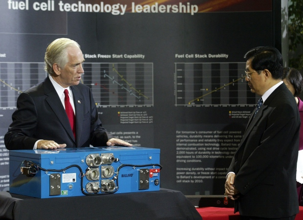 Showcasing Ballard's fuel cell technology in 2005.