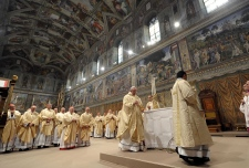 Pope Francis first mass