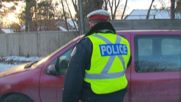 Police RIDE checkpoint impaired driving