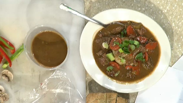 O'Byrnes Signature Beef & Guinness Stew with Guinness Steak Bites.