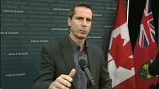 Premier Dalton McGuinty talks to reporters in Ottawa, Friday, Feb. 4, 2011.