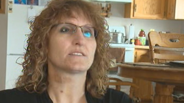 Dawn Hepp says a timber wolf attacked her along Highway 6 in Manitoba.