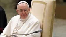 Pope Francis speaking