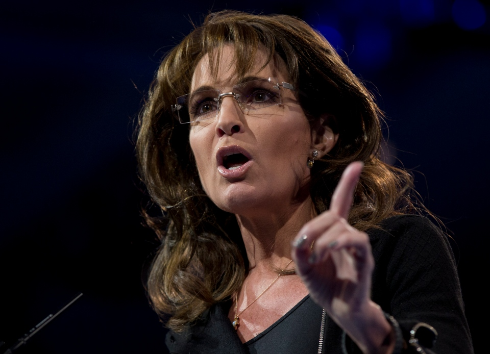 Former Alaska Gov. Sarah Palin speaks at the 40th annual Conservative Political Action Conference in National Harbor, Md., Saturday, March 16, 2013. (AP / Carolyn Kaster)