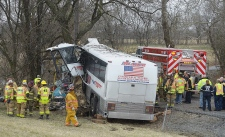 Lacrosse coach, driver dead after bus crash