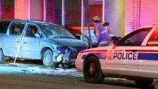 Driver injured after hanging onto van