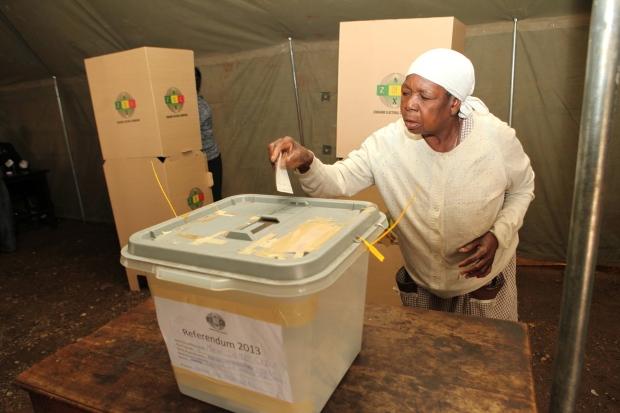 Zimbabweans vote on constitution