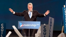 philippe couillard at final leadership vote