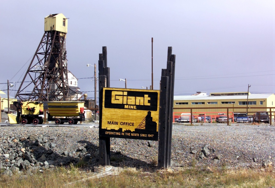 The Giant Mine in Yellowknife is shown Tuesday Aug. 21, 2001. (CP PHOTO/Chuck Stoody)