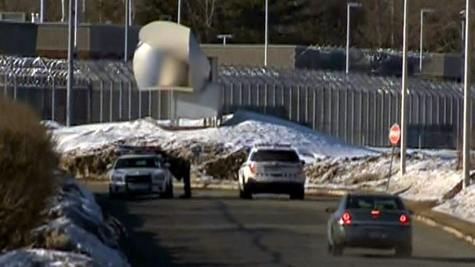 Two inmates have reportedly escaped from the correctional facility in Saint-Jerome, Que., Sunday, March 17, 2013.
