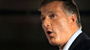 MP Maxime Bernier speaks during a right wing meeting called Reseau Liberte-Quebec in Quebec City, Saturday, Oct. 23, 2010. (Jacques Boissinot / THE CANADIAN PRESS)