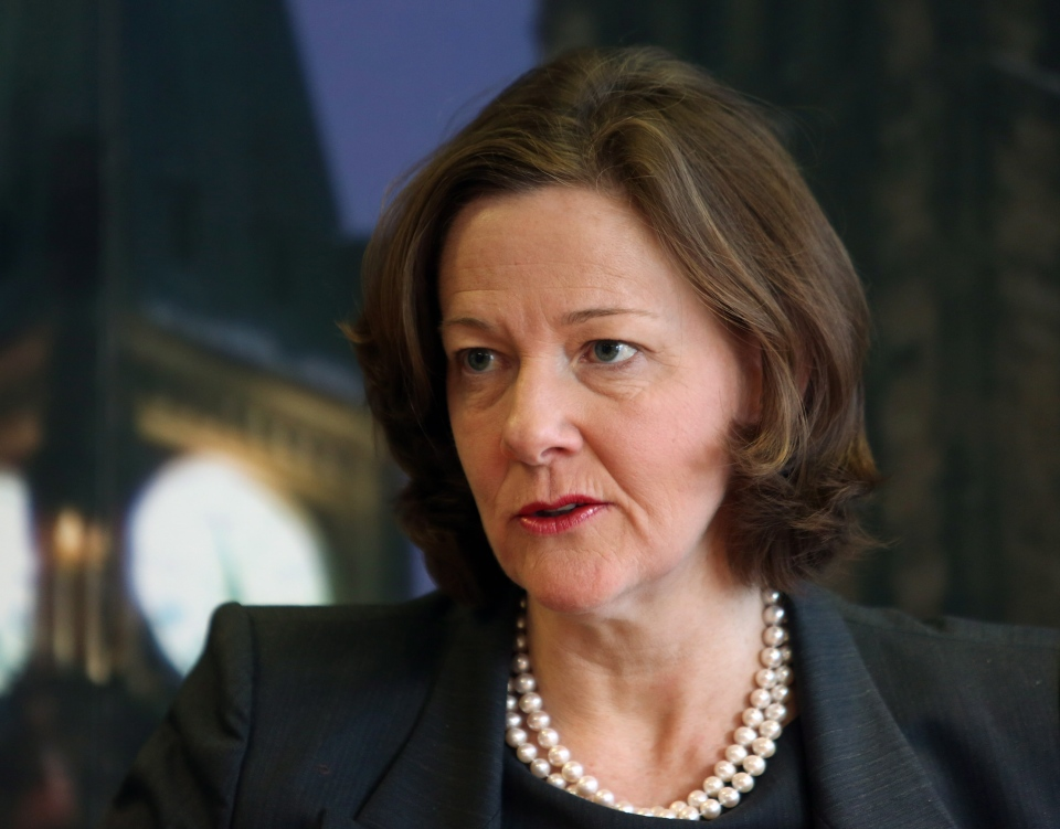 Alberta Premier Alison Redford shown in an interview in Ottawa, Monday, March 18, 2013. ( Fred Chartrand /  THE CANADIAN PRESS)