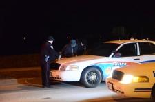 Halton police arrest a suspect overnight.