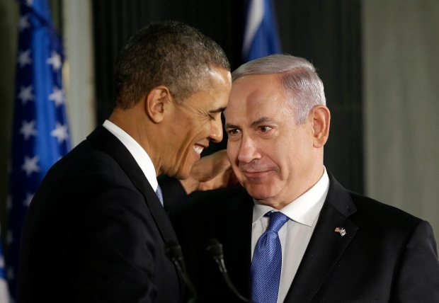 Barack Obama and Benjamin Netanyahu in Jerusalem