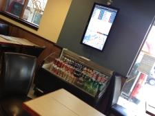 coffee shop bus board