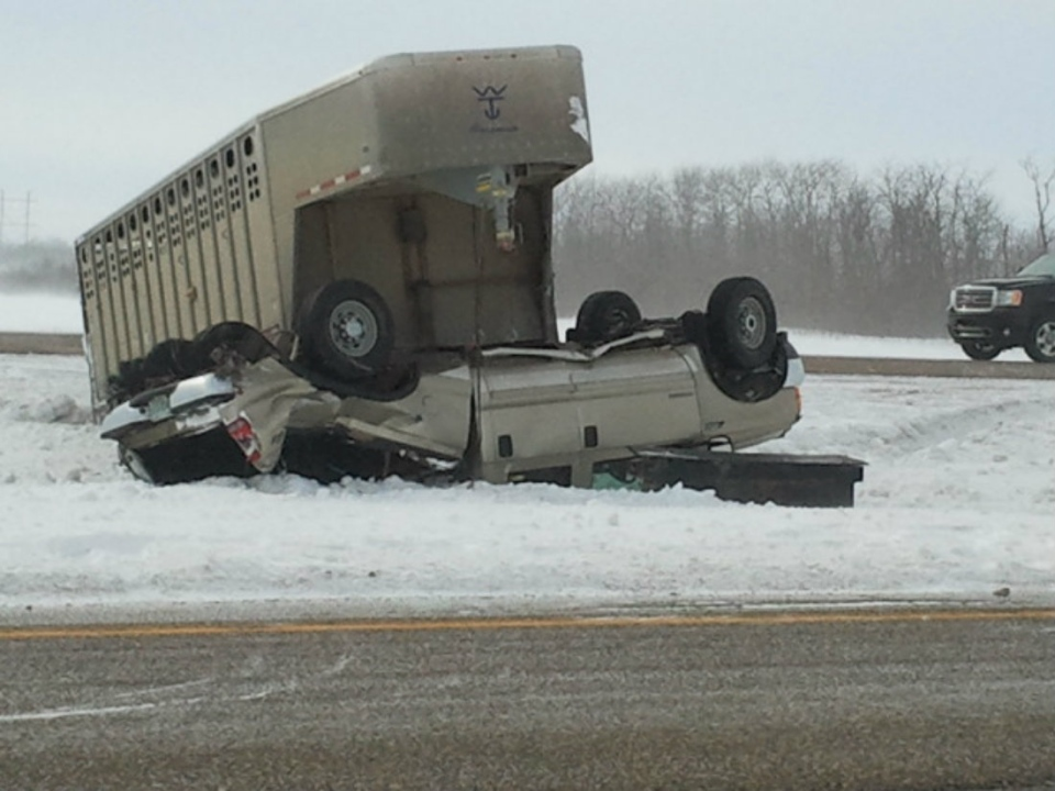 Terrible road conditions on Wednesday lead to several accidents.