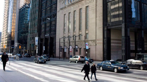 The Toronto Stock Exchange (TSX) on Bay Street is shown in this March 23, 2009 photo. (Chris Young / THE CANADIAN PRESS)