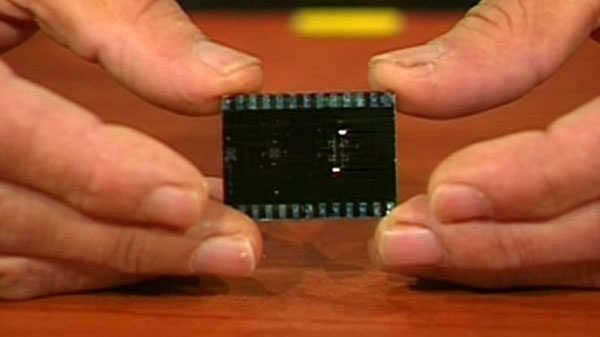 The microchip gives researchers a way to control the exact size of fluid droplets.