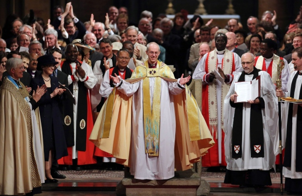 Archbishop of Canterbury Welby on March 21, 2013