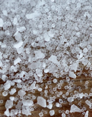 Crystals of table, kosher, and pickling salt are shown in this February 2012 photo. (AP / Nati Harnik)