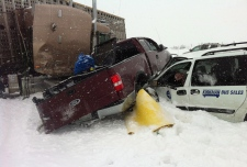 multi-vehicle crash Edmonton