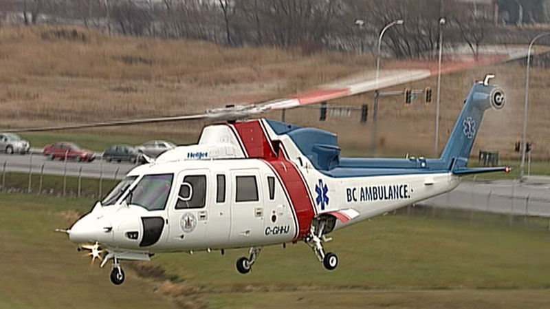 An air ambulance comes in for landing in this CTV News file photo.