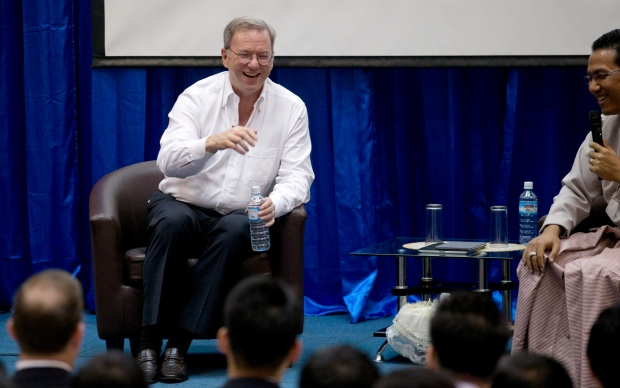 Google Executive Chairman Eric Schmidt in Myanmar