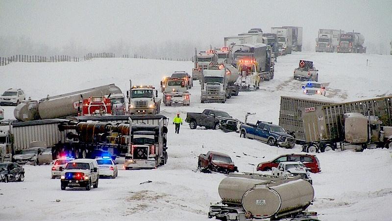 Massive pileup in Alberta