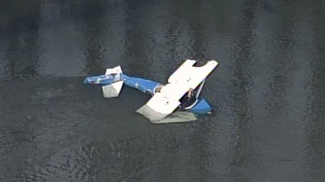 One person is believed to be dead after two small planes collided near Mission, B.C. Feb. 9, 2011. (CTV)