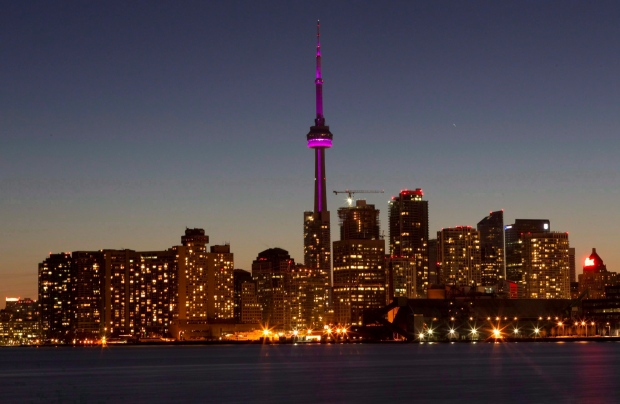 Toronto CN Tower Earth Hour