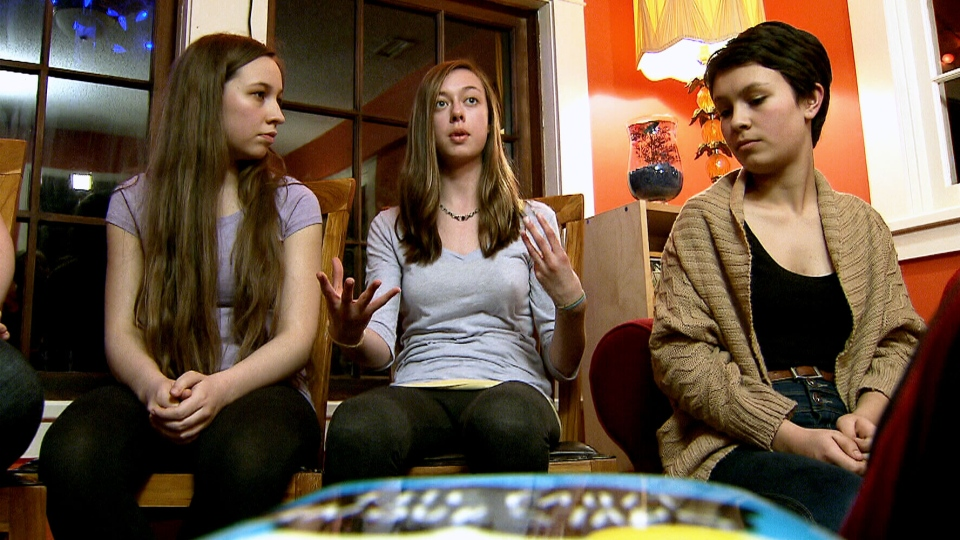 Teenagers discuss the new genre of books popular among young Canadians.