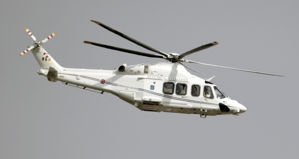 The helicopter carrying Pope Francis flies on its way to Castel Gandolfo Saturday, March 23, 2013. (AP Photo/Andrew Medichini)