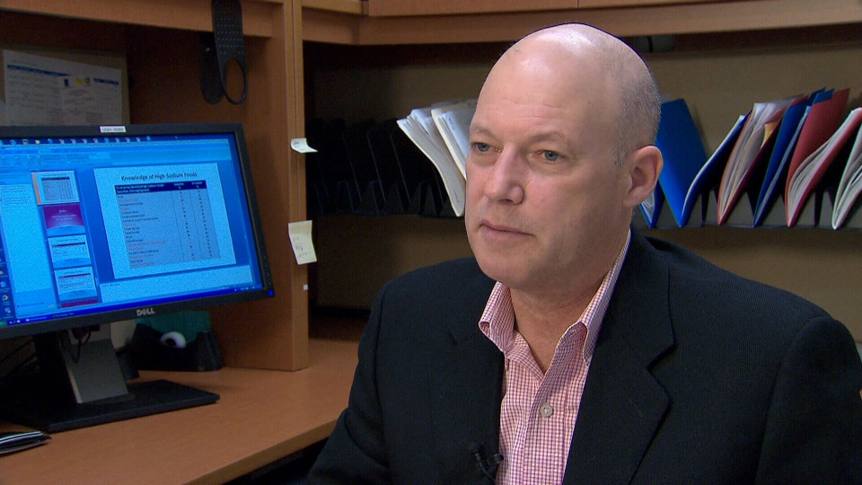 Bob Reid, from the University of Ottawa Heart Institute, says the study reiterates the impact of sodium on blood pressure.